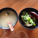 Miso Soup and Wonton Soup